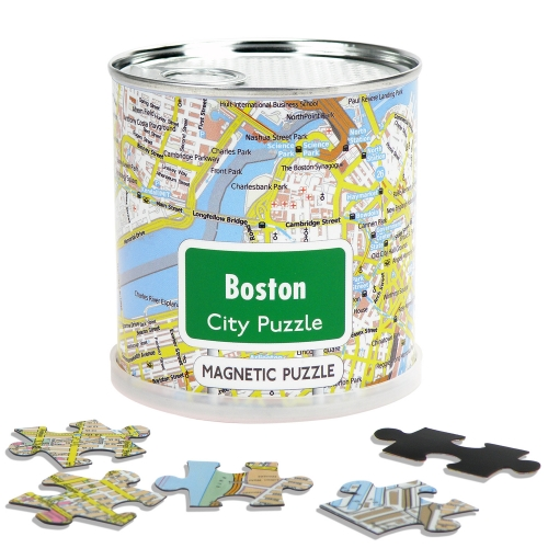 City Puzzle Magnets Boston