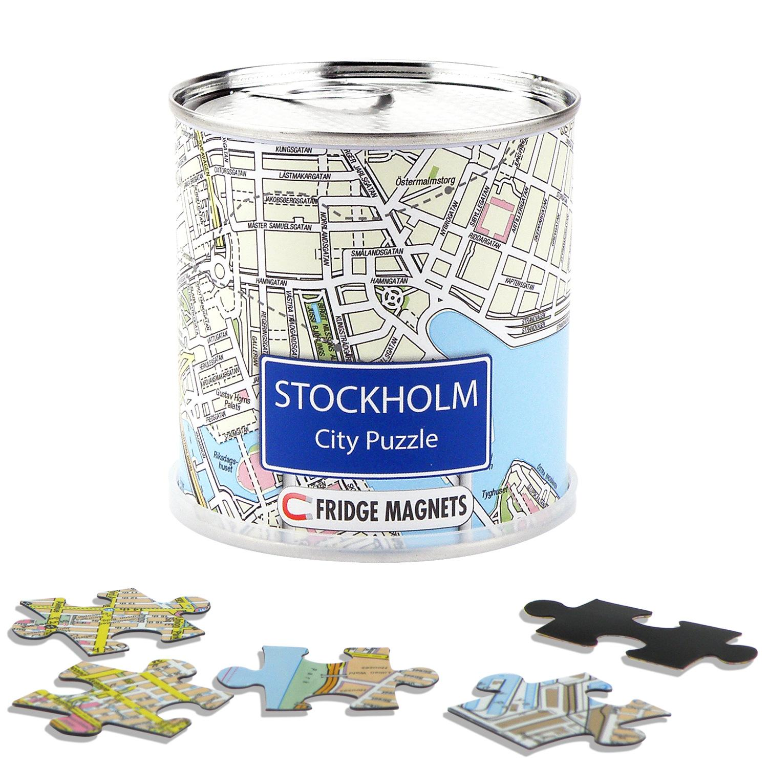 City Puzzle Magnets Stockholm