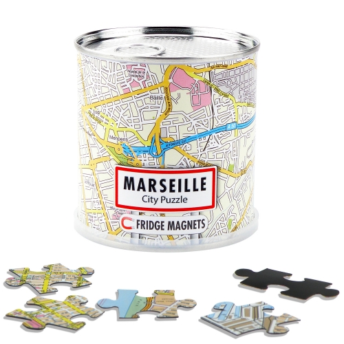 City Puzzle Magnets Marseille